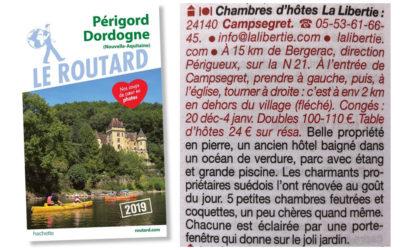 2019 Guide Routard Périgord Dordogne